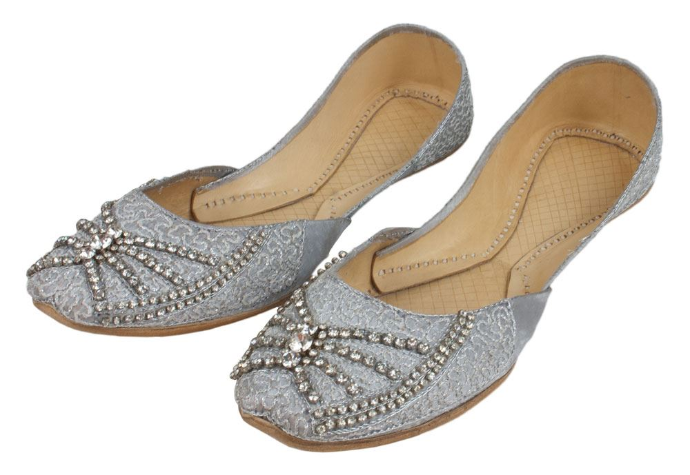 Luxury Multani Phool Wala And Khussa Slippers Which Have No Backs Are Made Specifically For Women Inside The Shops The Khussas Are Stacked Neatly Depending On The Type And Size As These Shoes Are Made Of Natural Material They Tend To