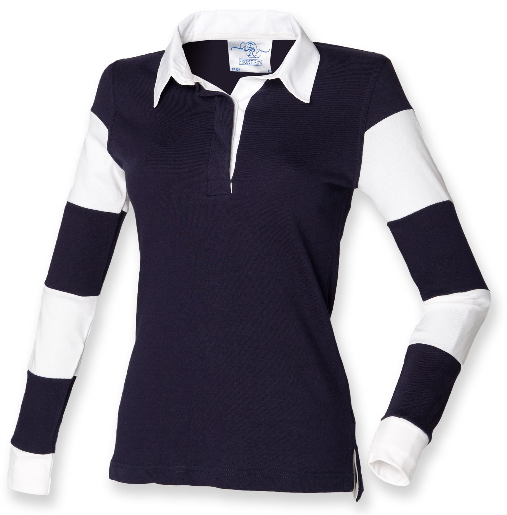 Front Row-Tops & Shirts-Womens striped sleeve rugby shirt ...