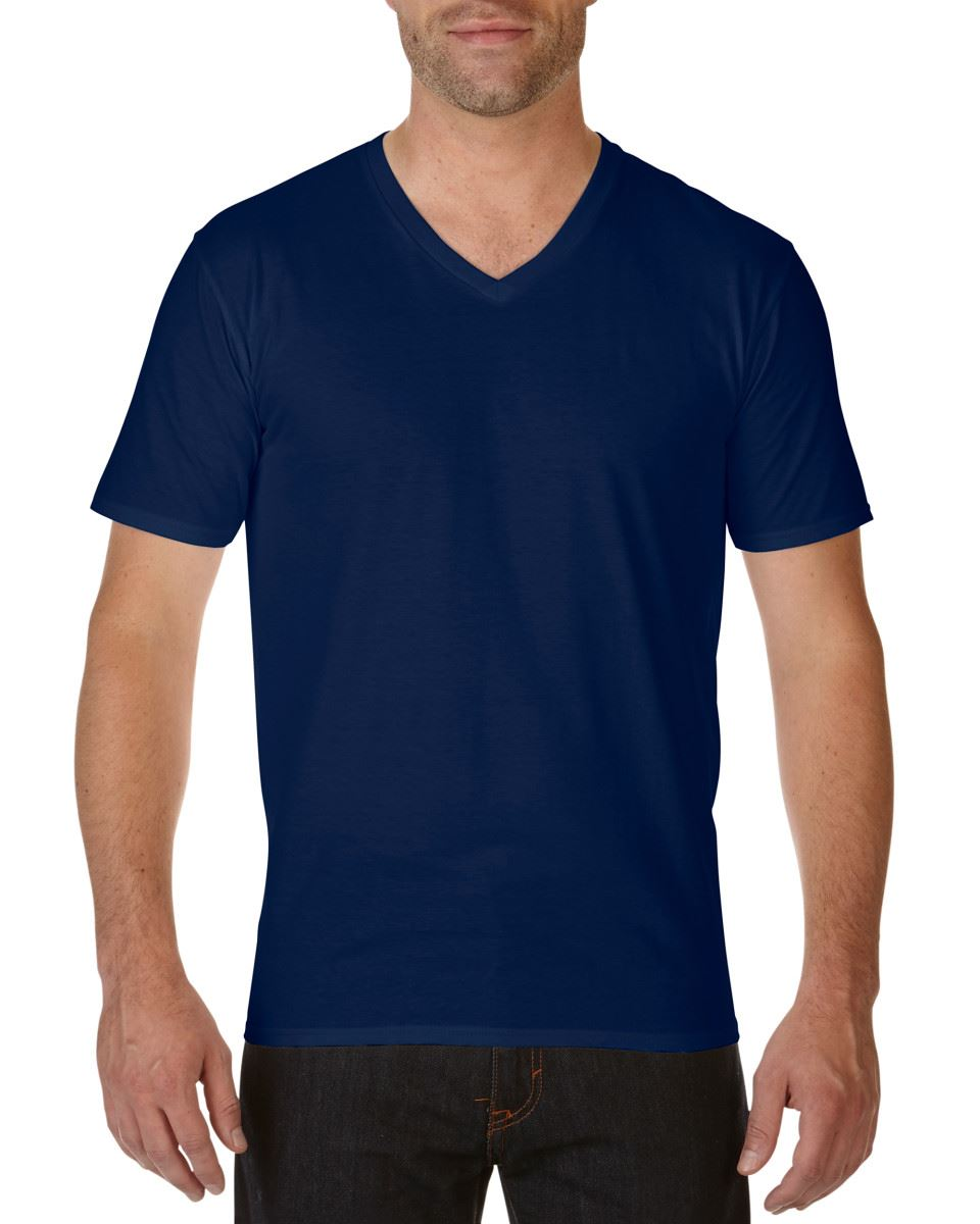 3 pack gildan tshirts tops mens premium cotton adult v for Gildan v neck t shirts for men