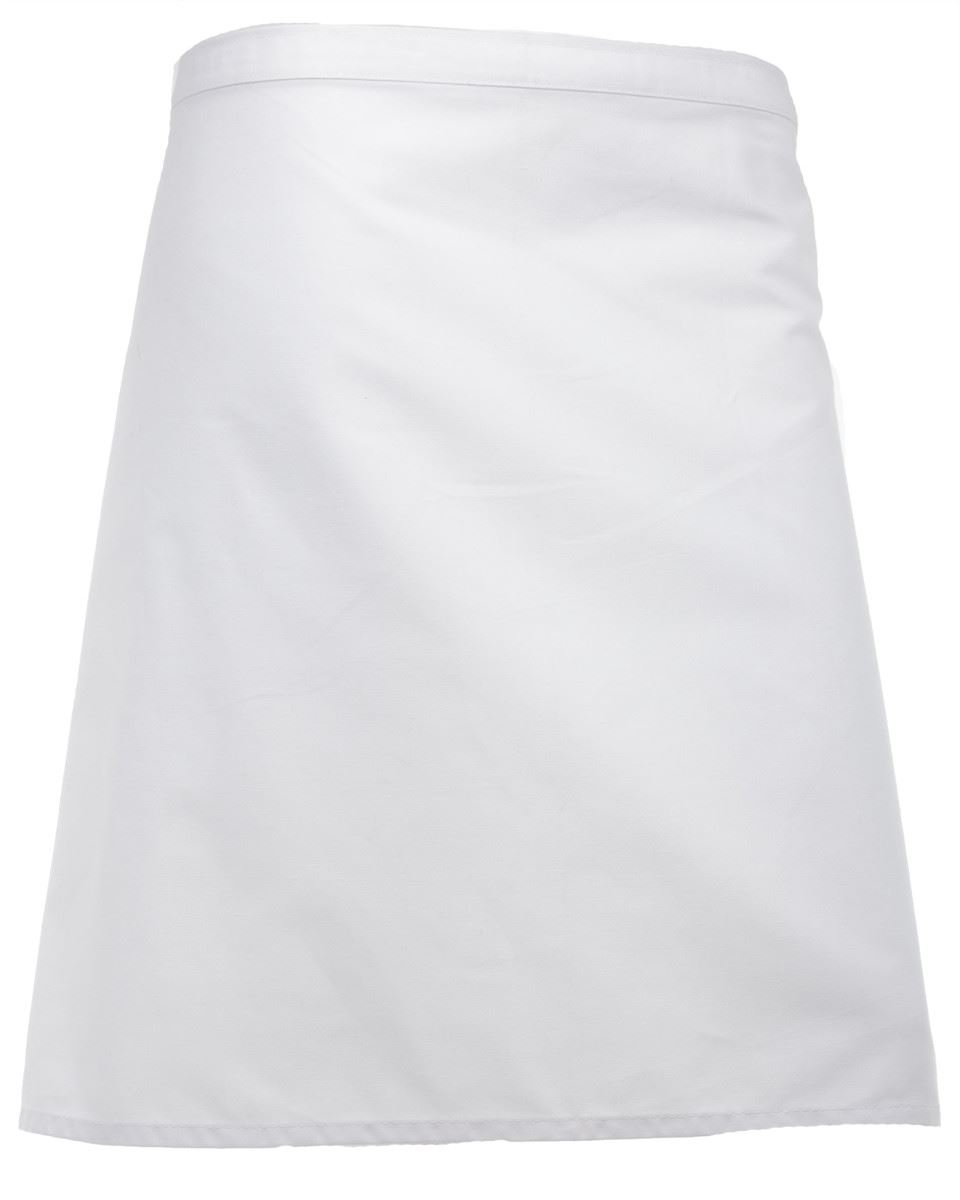 White tabard apron - Short Length Bistro Apron Aprons And Tabards By