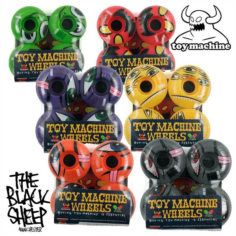 TOY MACHINE PROFESSIONAL TRANS COLOUR SKATEBOARD WHEELS NEW! | eBay