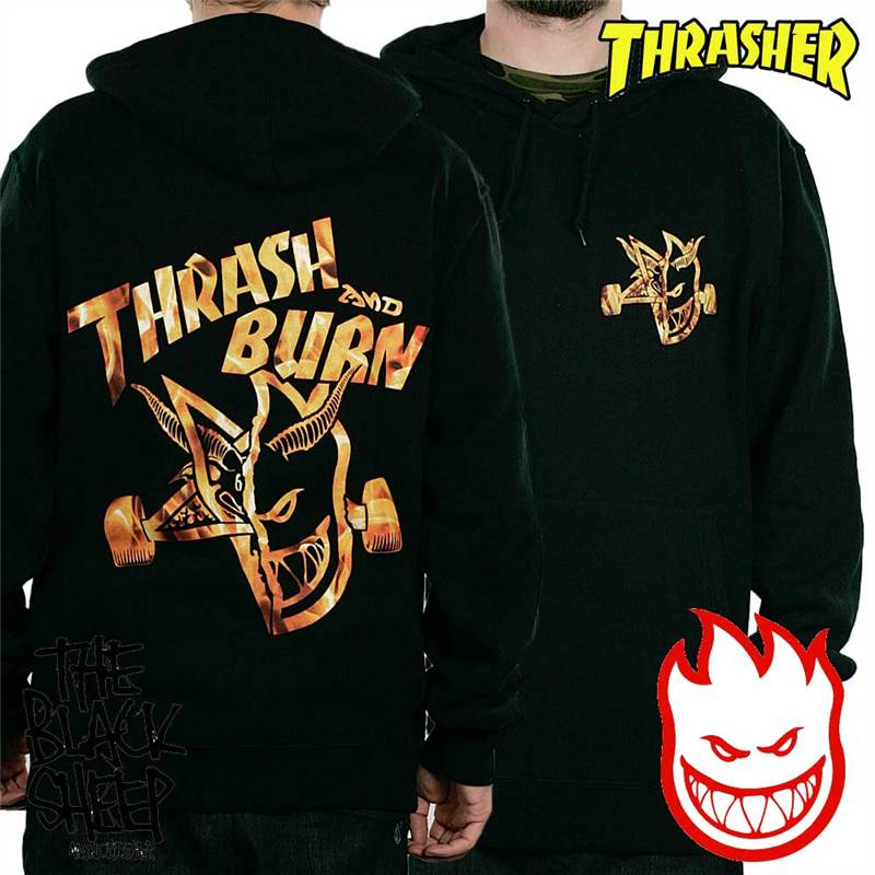 Spitfire X Thrasher Collaboration Thrash And Burn Hoodie
