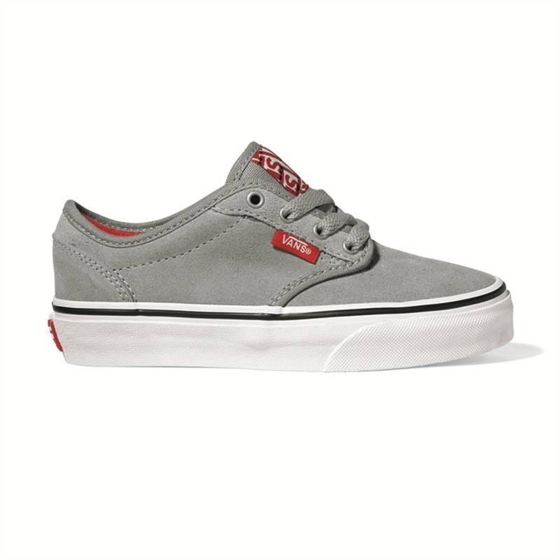 Medio De Zapatos Nuevo Gris Vans Wall Juventud Niños La Para Atwood qUWpS40
