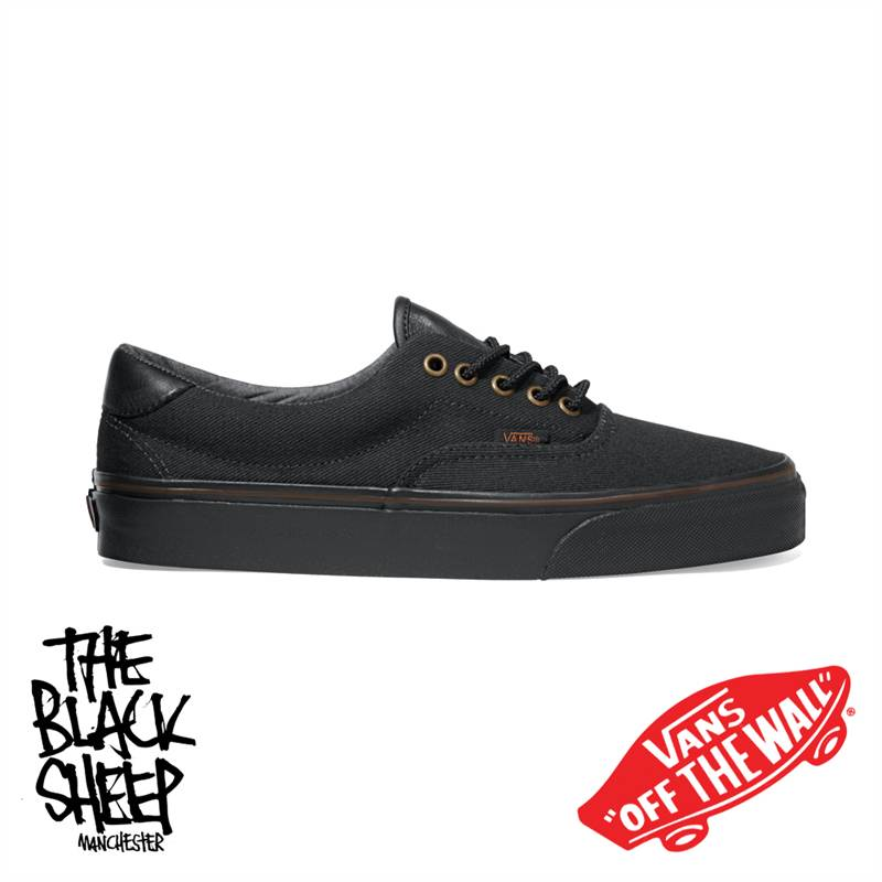vans off the wall era 59 t l black unisex shoes new ebay. Black Bedroom Furniture Sets. Home Design Ideas