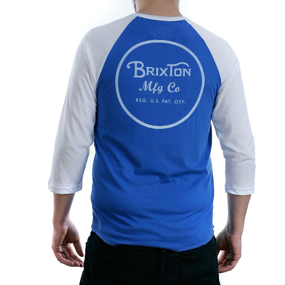 gratuita T Blue White consegna Royal Bnwt New shirt Tee maniche Brixton corte 4 3 Wheeler rr6wA84q