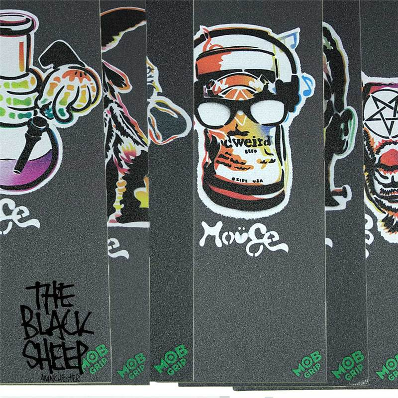 Mouse skateboard skate sk8 custom made spray painted grip for Spray paint designs with tape