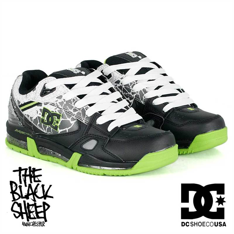 dc ken block versaflex black white soft lime mens shoes. Black Bedroom Furniture Sets. Home Design Ideas
