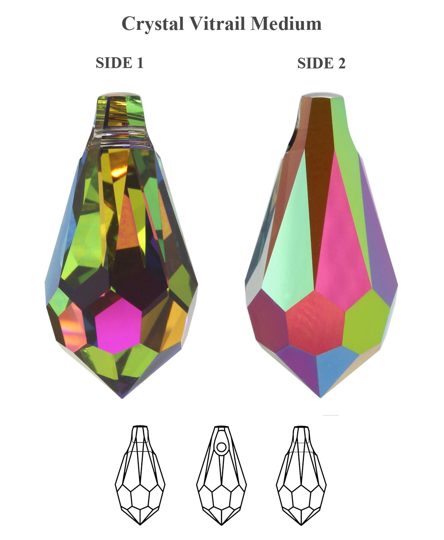 SWAROVSKI-ELEMENTS-6000-Teardrop-Pendant-Many-Colors-Sizes