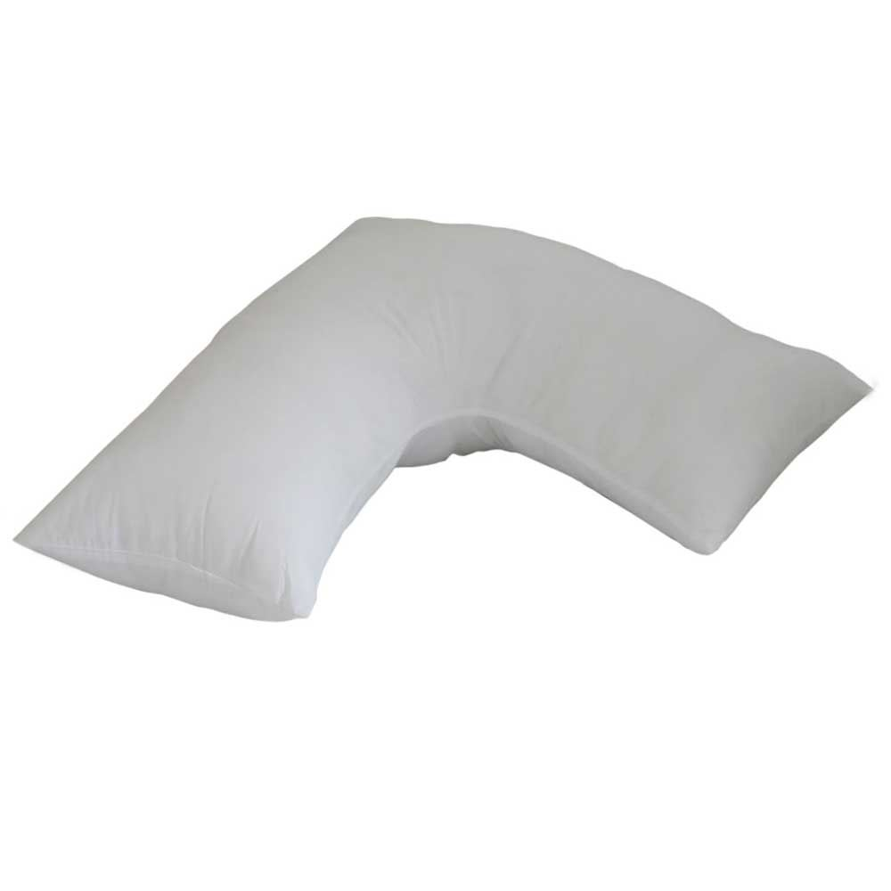 V shaped support pillows duck goose down feather for Duck or goose feather pillows which is better