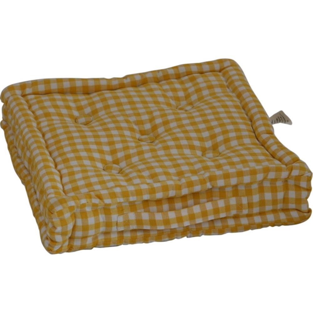 Gingham Check Large Floor Cushions Outdoor Garden Dining Booster Seat Pads eBay