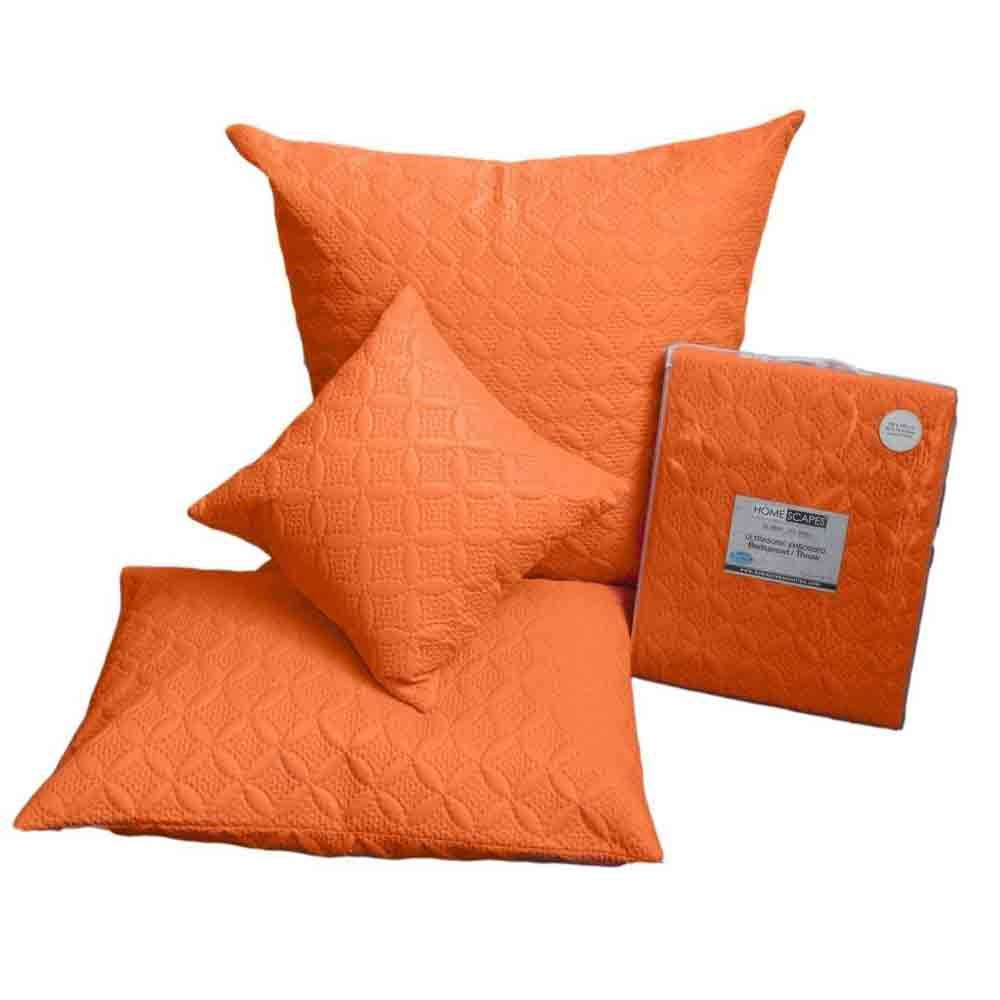 Orange Quilted Bedspread Throws & Filled Cushion Covers Large Small Blanket Bed eBay