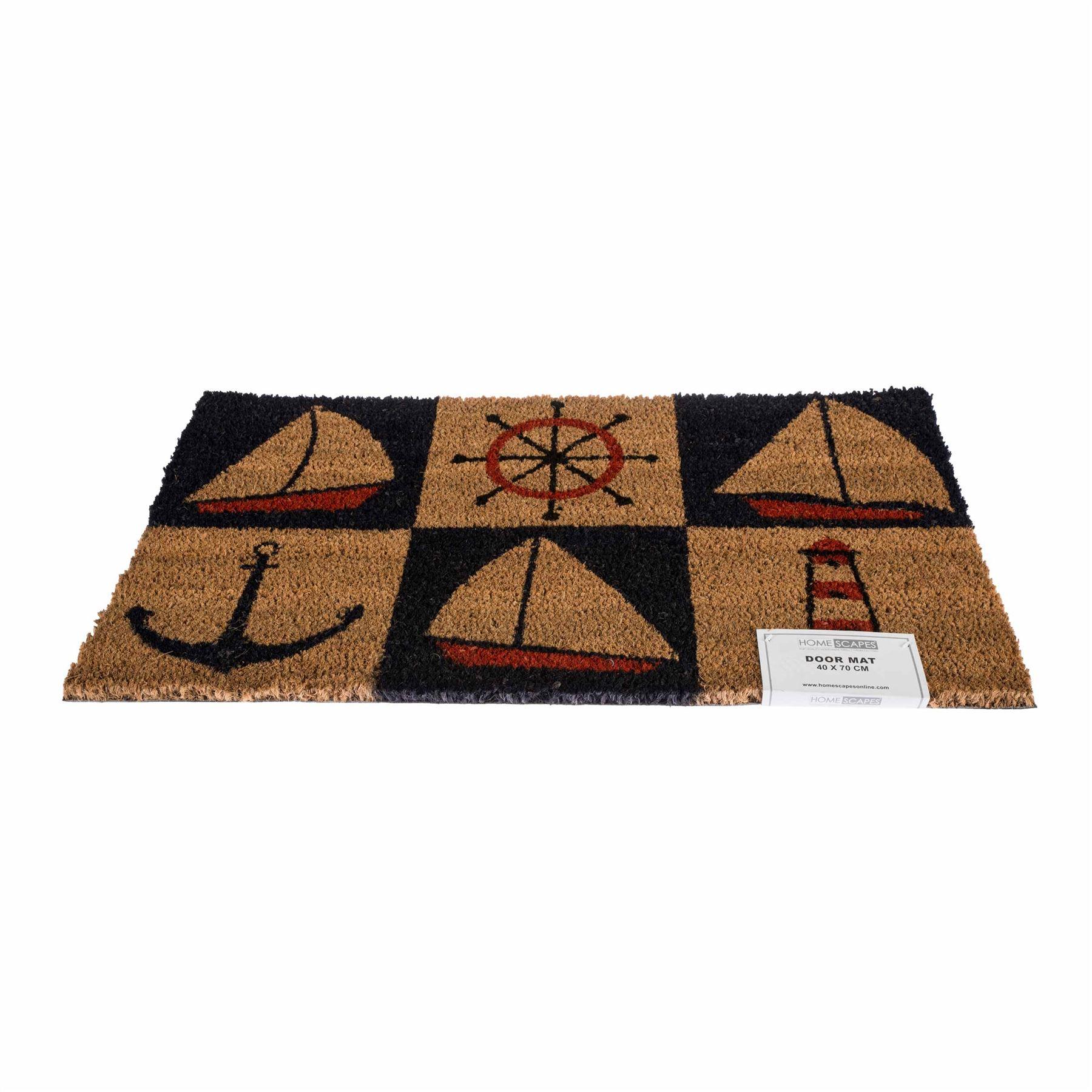 Novelty natural coir door mat heavy duty indoor outdoor for Outdoor doormats
