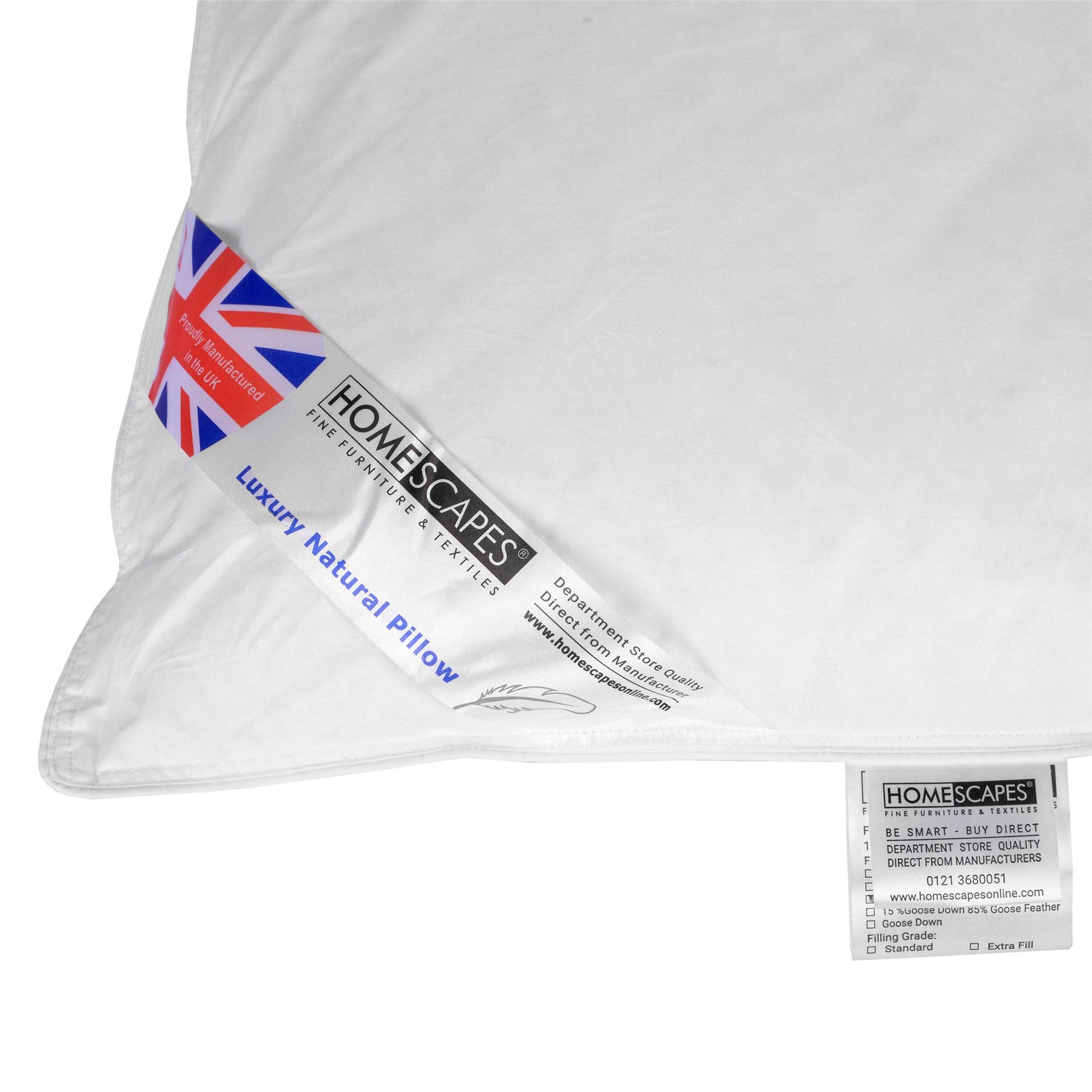 Homescapes-Feather-Pillows-Duck-Goose-Down-Body-V-Shaped-King-Size-continental