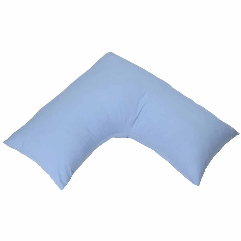 V Shaped Support Pillows Duck Feather And Down Microfibre