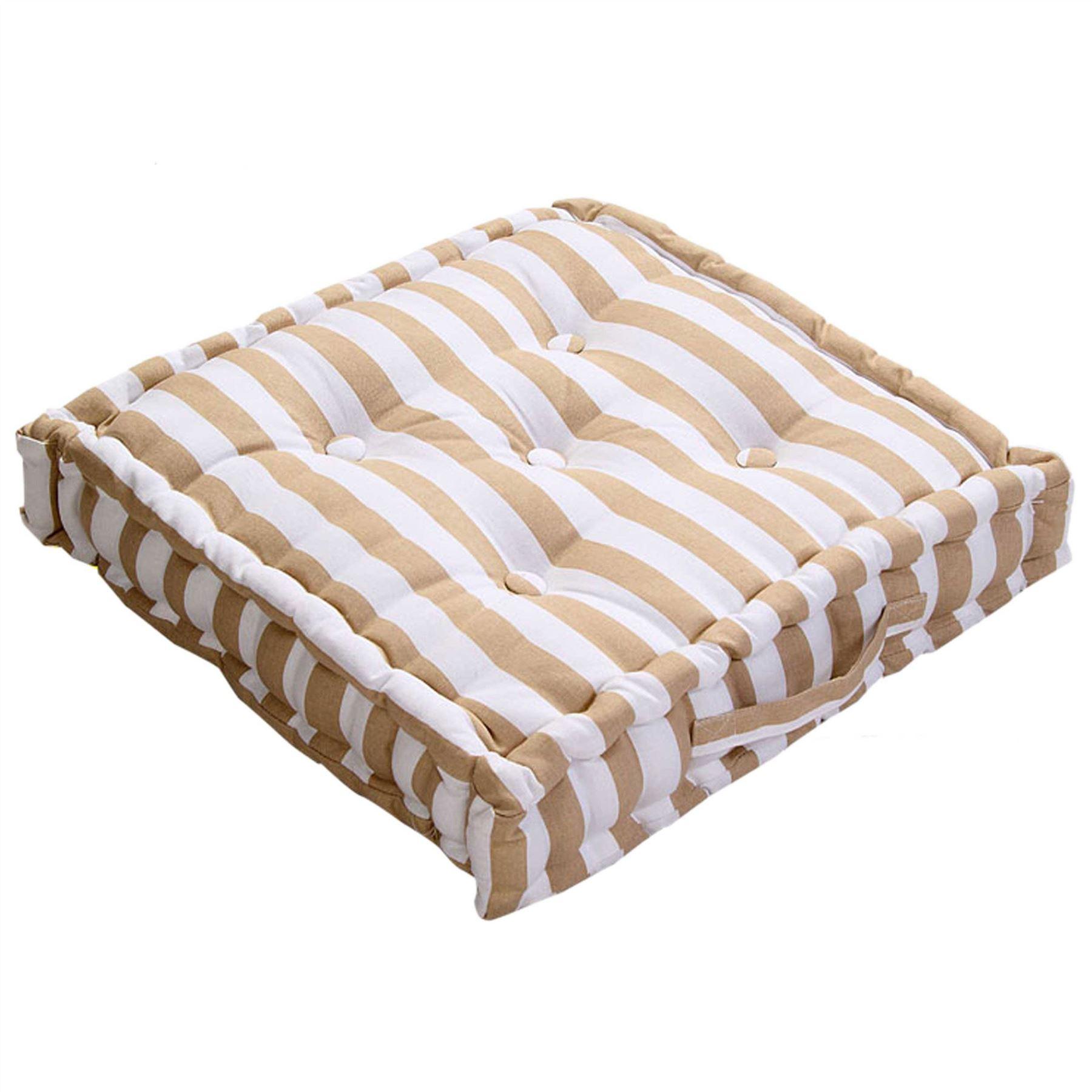 Floor Dining Pillows : Thick & Thin Stripe Floor Cushion Seat Pad Riser Dining Chair Booster Cushion eBay