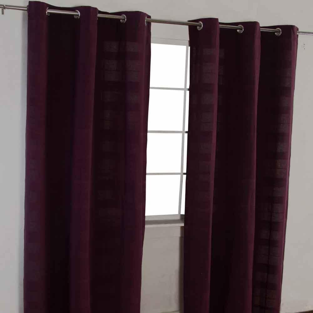 Homescapes Purple Large Cotton Plain Sofa Bed Throw