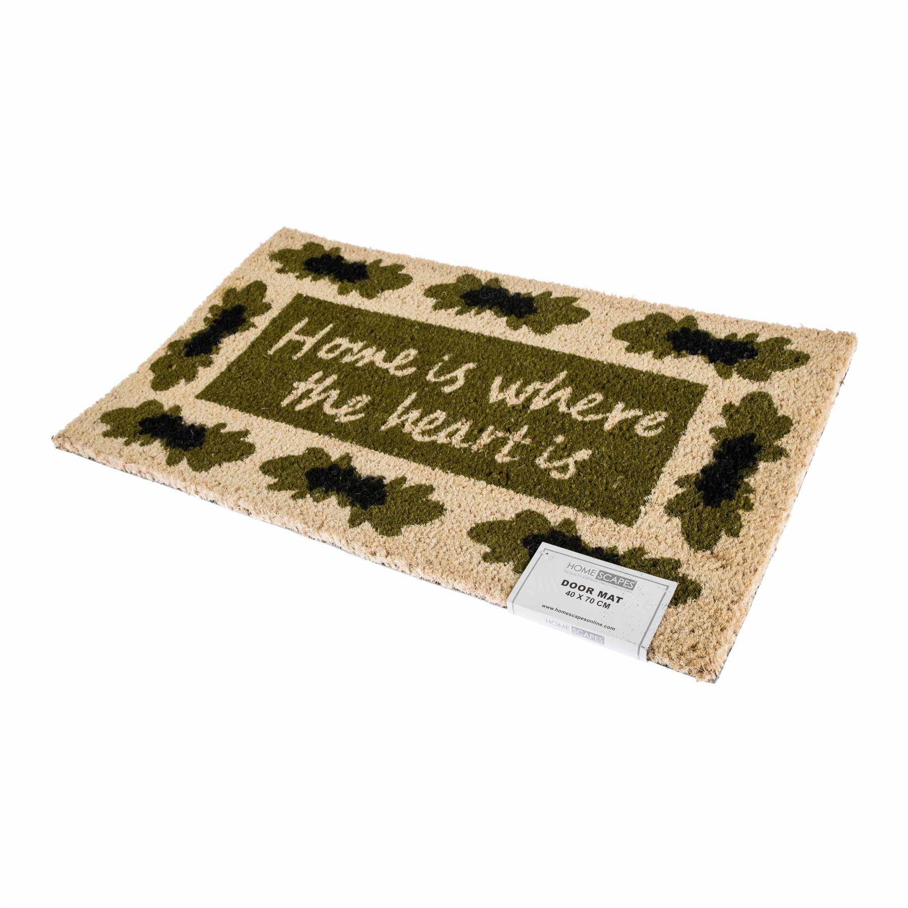 Novelty natural coir door mat heavy duty indoor outdoor for Door mat indoor