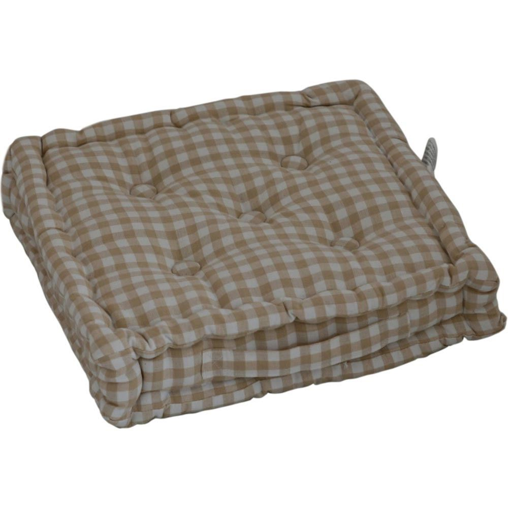 Large Outdoor Floor Pillows : Gingham Check Large Floor Cushions Outdoor Garden Dining Booster Seat Pads eBay