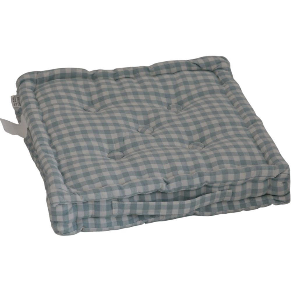 Gingham Check Large Floor Cushions Outdoor Garden Dining Booster Seat Pads