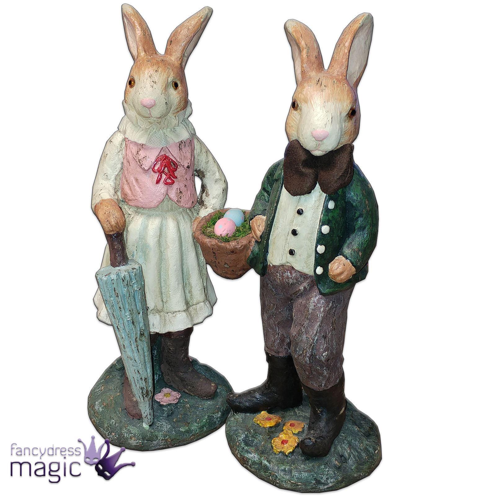 Gisela graham easter bunny rabbit vintage figurine for Home ornaments