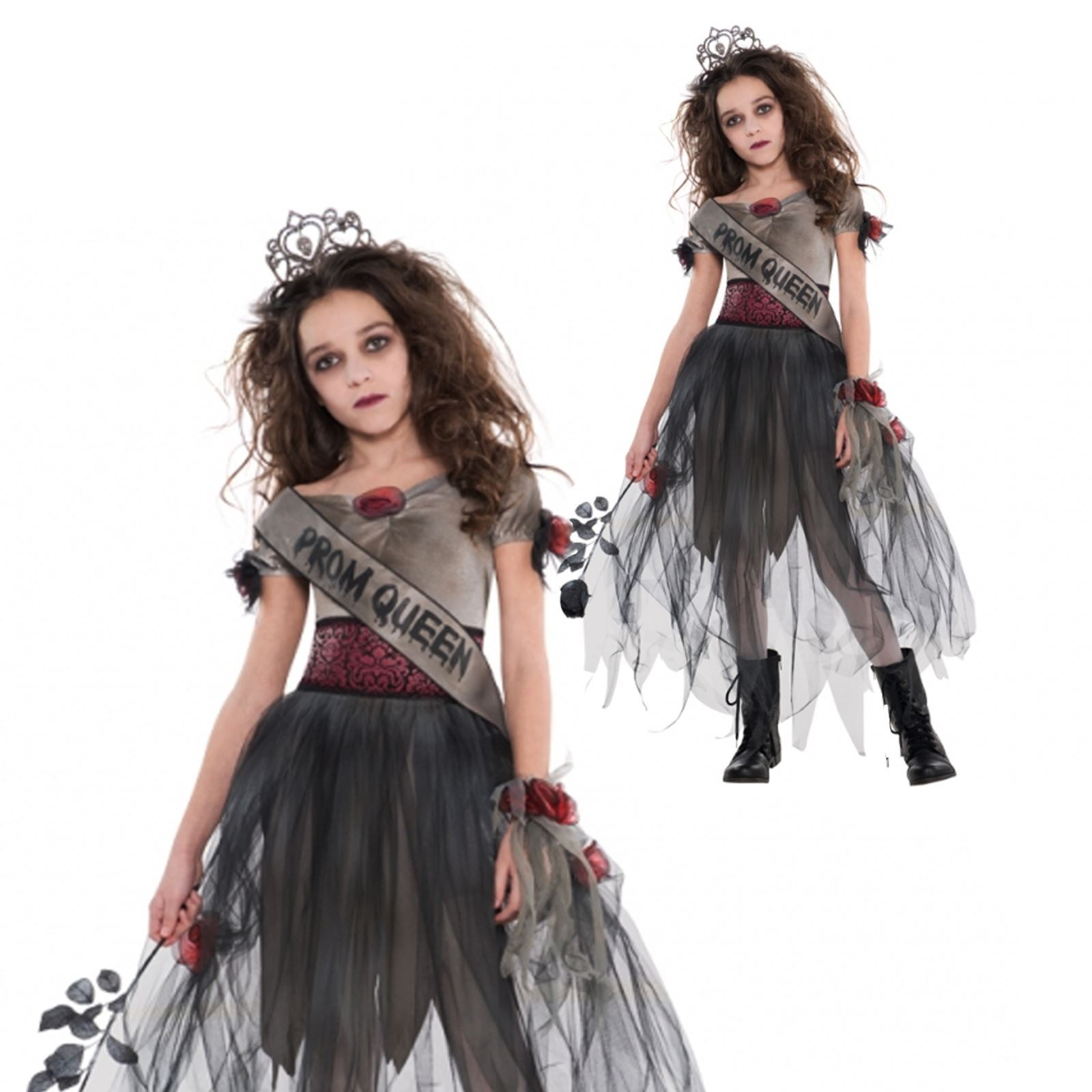 m dchen teen kinder zombie prom queen halloween zombie kost m kleid outfit ebay. Black Bedroom Furniture Sets. Home Design Ideas