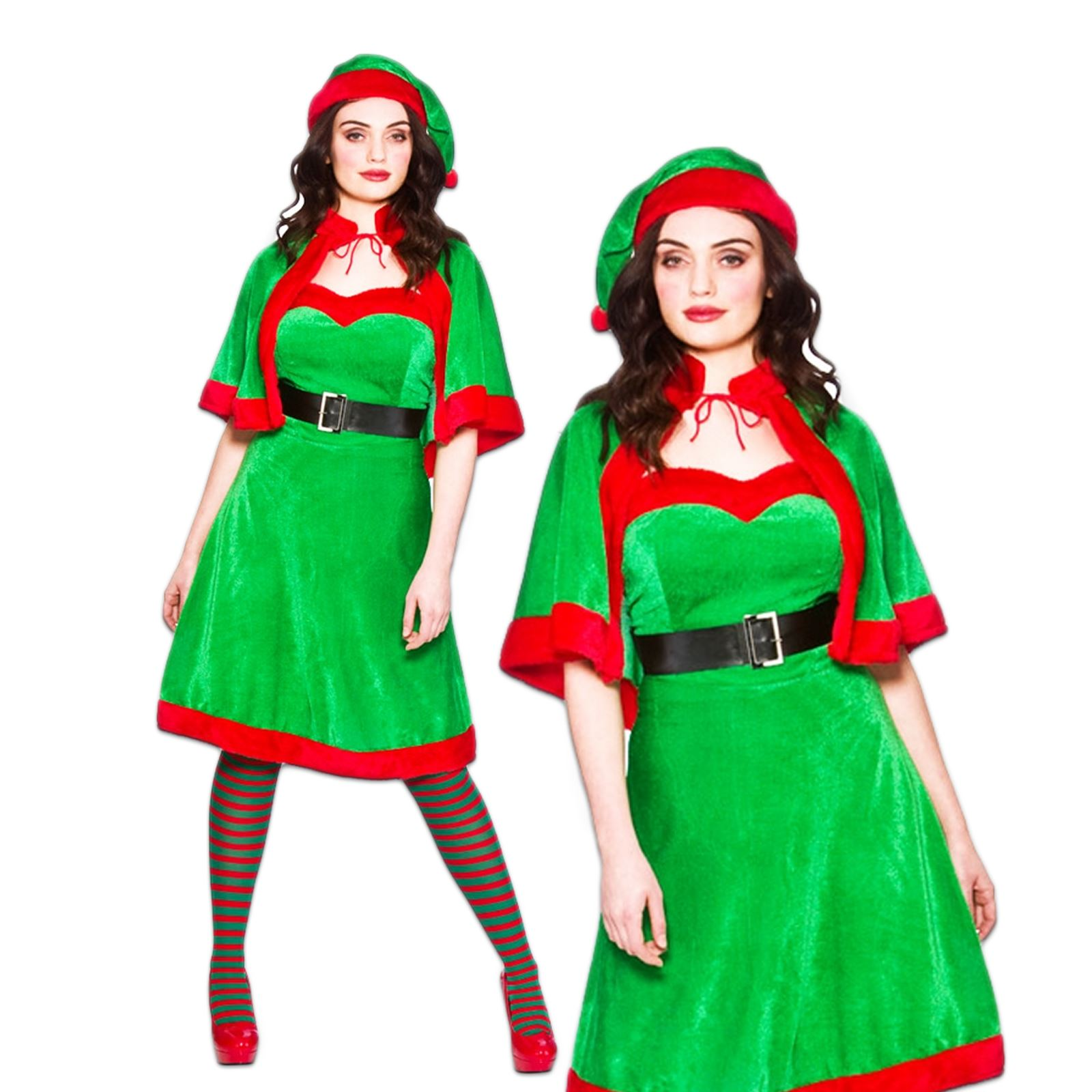 Sexy elf santas helper christmas xmas hat fancy dress costume ebay