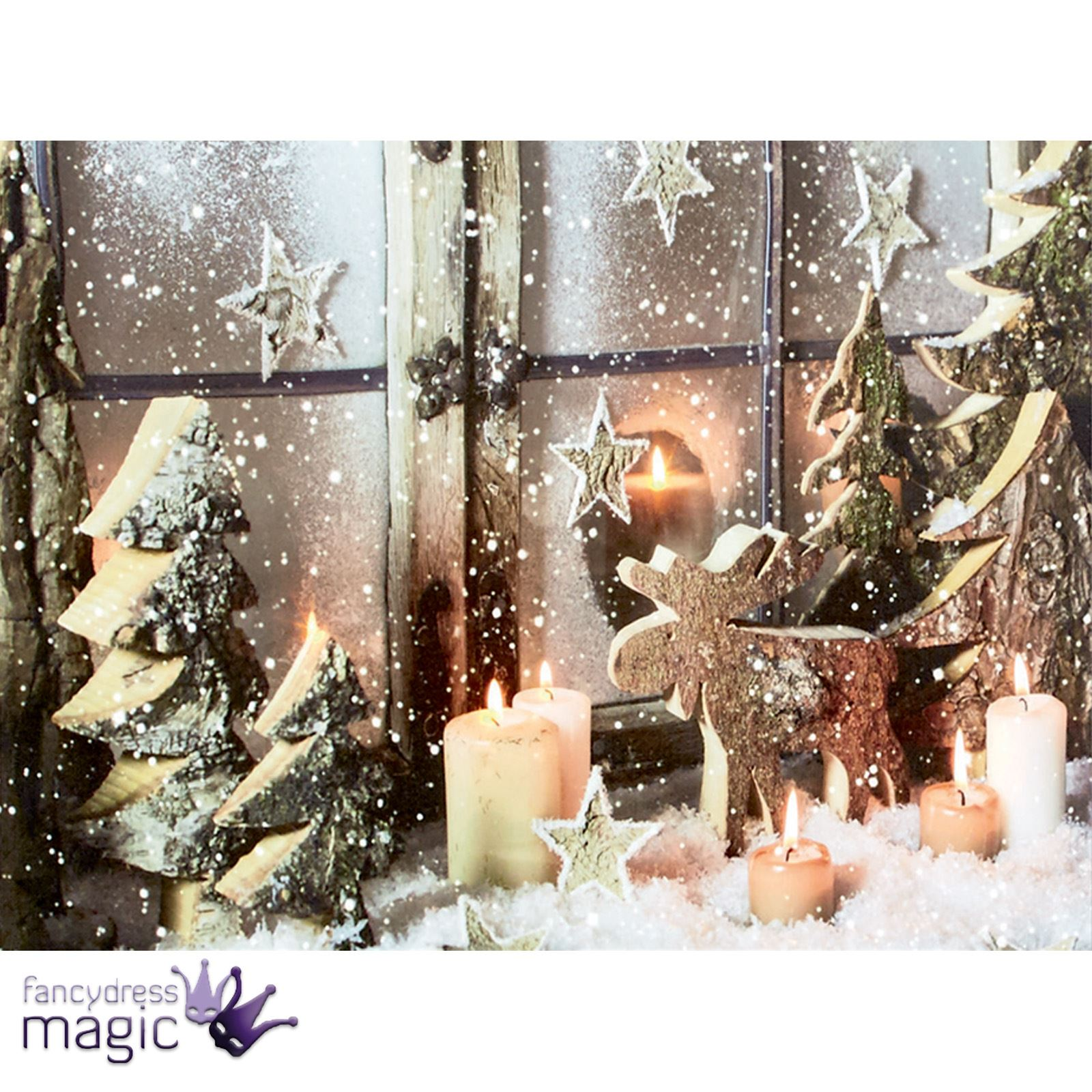 40x30cm christmas contemporary modern led canvas battery operated wall art print ebay. Black Bedroom Furniture Sets. Home Design Ideas