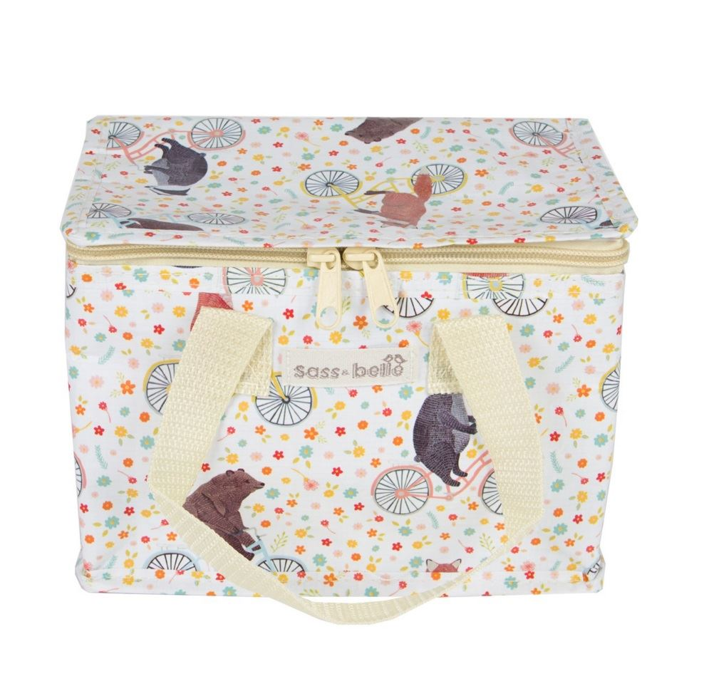 sass and belle isotherme recycl bo te d jeuner cool picnic sac vintage floral cadeau ebay. Black Bedroom Furniture Sets. Home Design Ideas