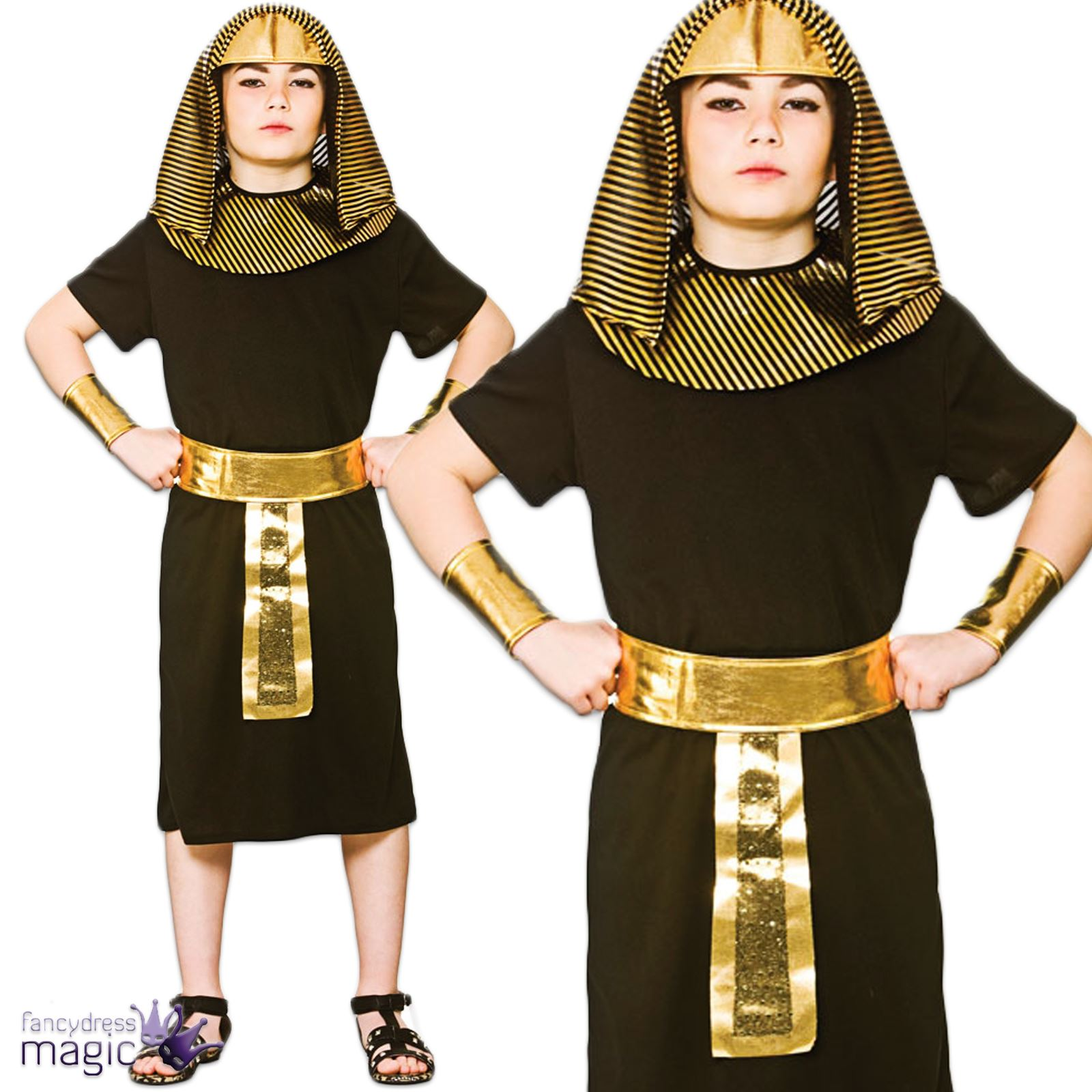 jungen kinder gyptisch historisches gypten k nig pharao kost m kleid outfit ebay. Black Bedroom Furniture Sets. Home Design Ideas