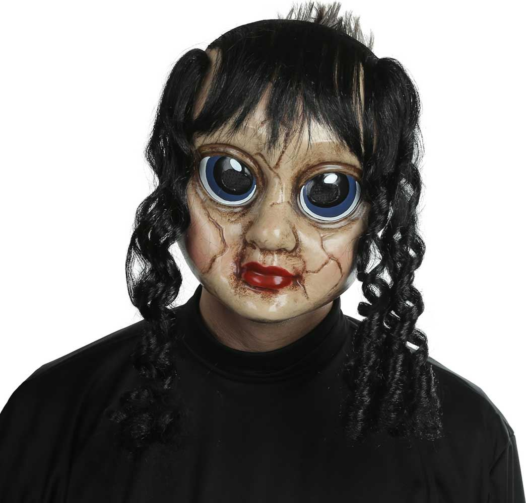 Adult Scary Doll Face Ghost Horror Mask Halloween Fancy Dress ...