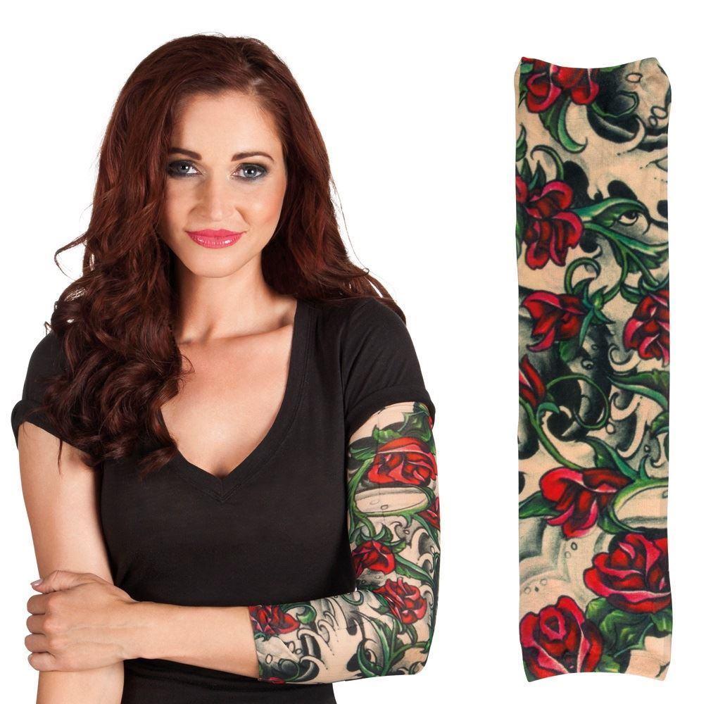 tattoo sleeve fake stretch nylon sleeves temporary fancy