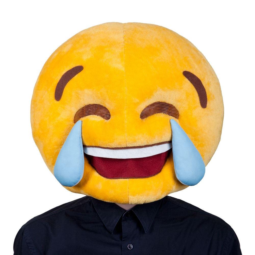 ADULT PLUSH EMOJI EMOTICON MASCOT FULL HEAD SMILEY FANCY ...