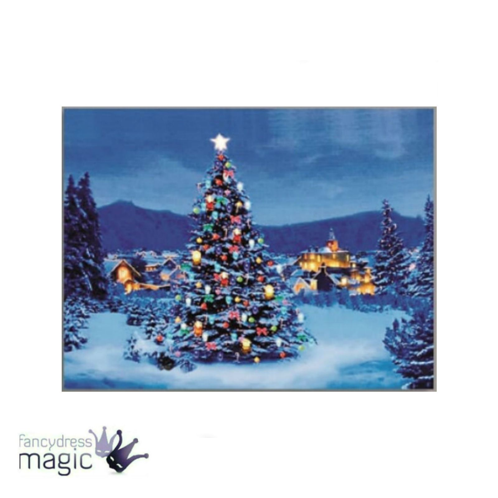 40x30cm Canvas LED lights Battery Operated Christmas Colour Changing Wall Art eBay