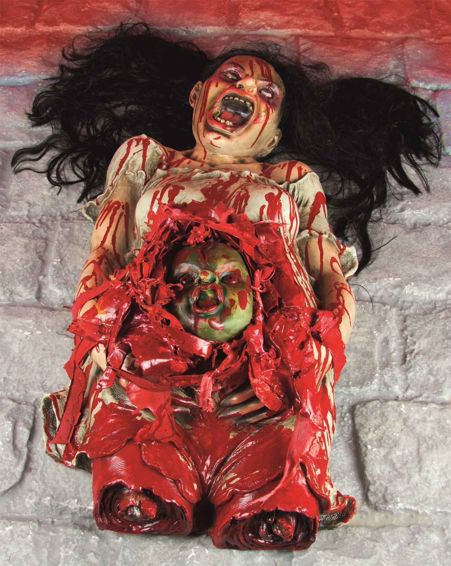 Halloween Blutig Horror Schwanger Damen Corpse Zombie Baby