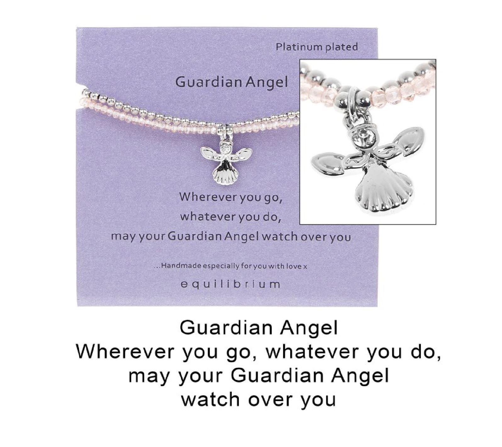 Equilibrium Sentiment Quote Double Message Bracelet Bangle Platinum Charm Gift
