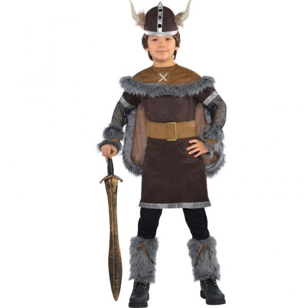 Child Boys Viking Warrior Saxon Book Week Fancy Dress Costume With Helmet Outfit | eBay