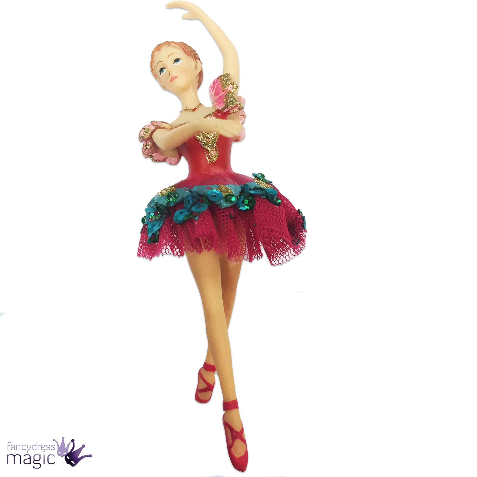 Gisela graham nutcracker clara ballerina painted tree for Ballerina decoration