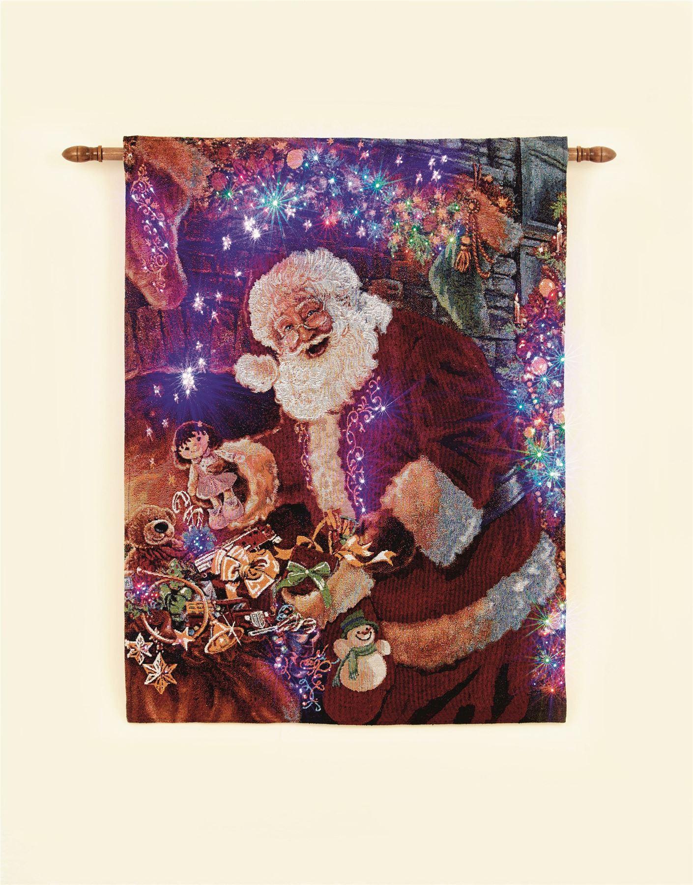 Christmas xmas tapestry cm led wall hanging