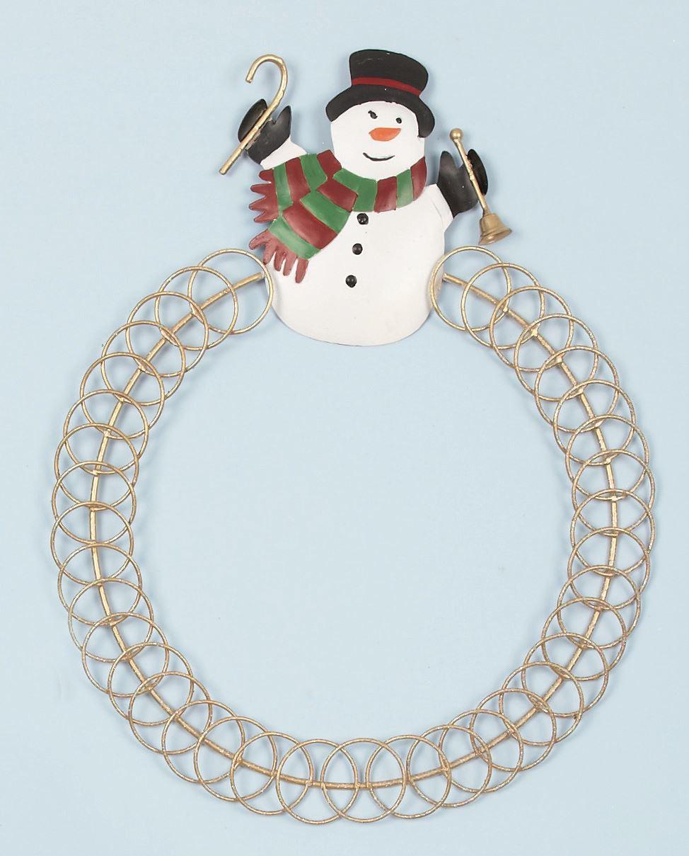 Cm snowman christmas card holder xmas display round