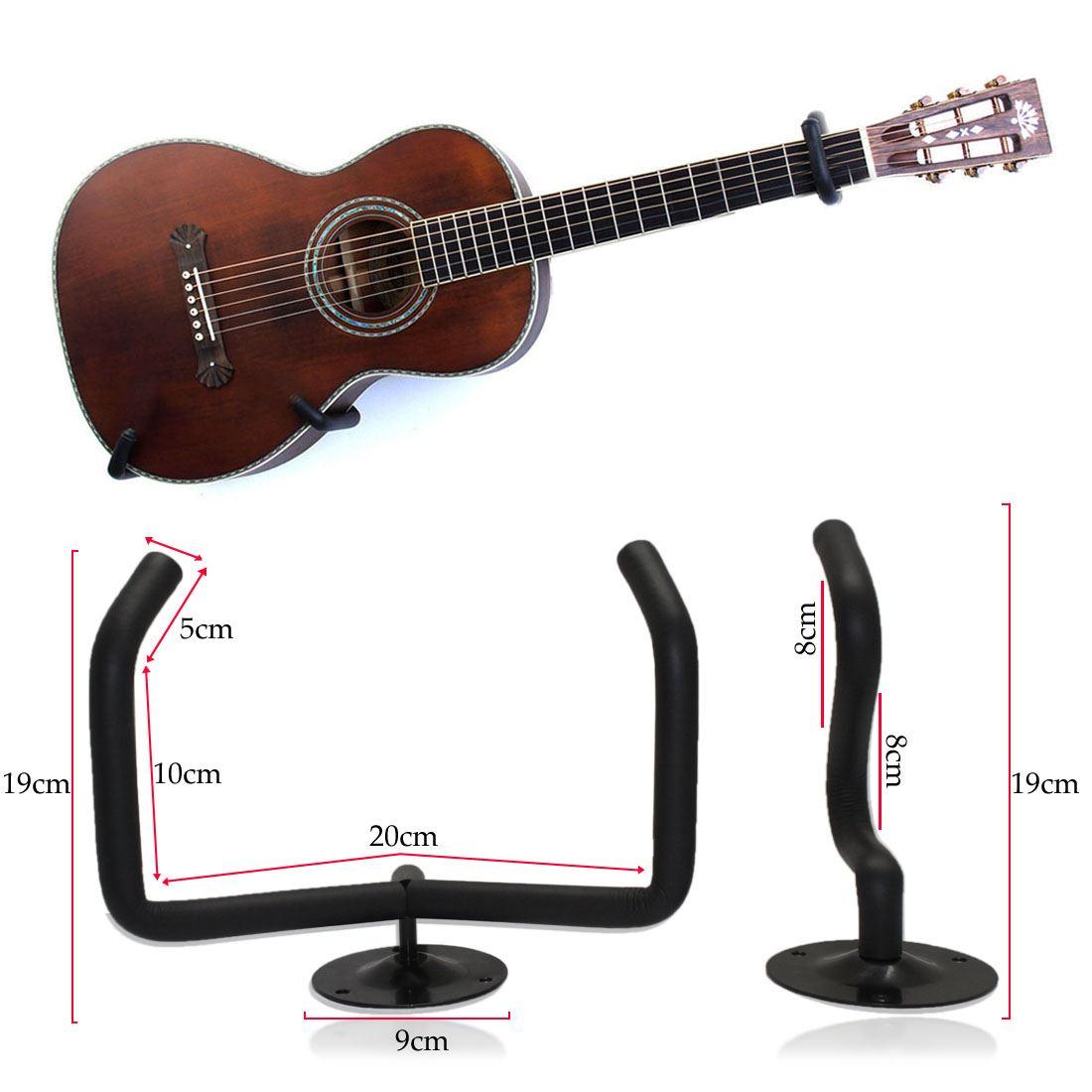black horizontal wall hanger bracket electric guitar acoustic bass ukulele ebay. Black Bedroom Furniture Sets. Home Design Ideas