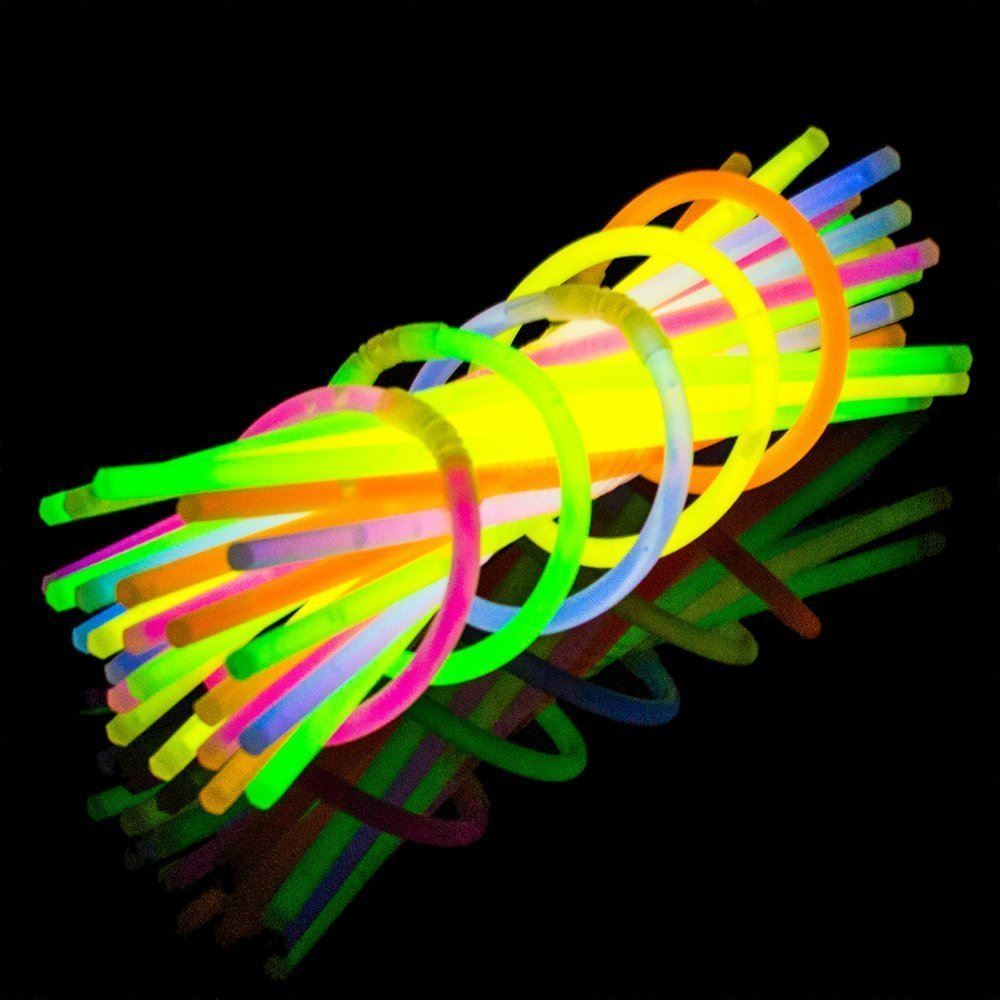 100 sticks glow stick neon bracelets florescent firework party tube uk ebay. Black Bedroom Furniture Sets. Home Design Ideas