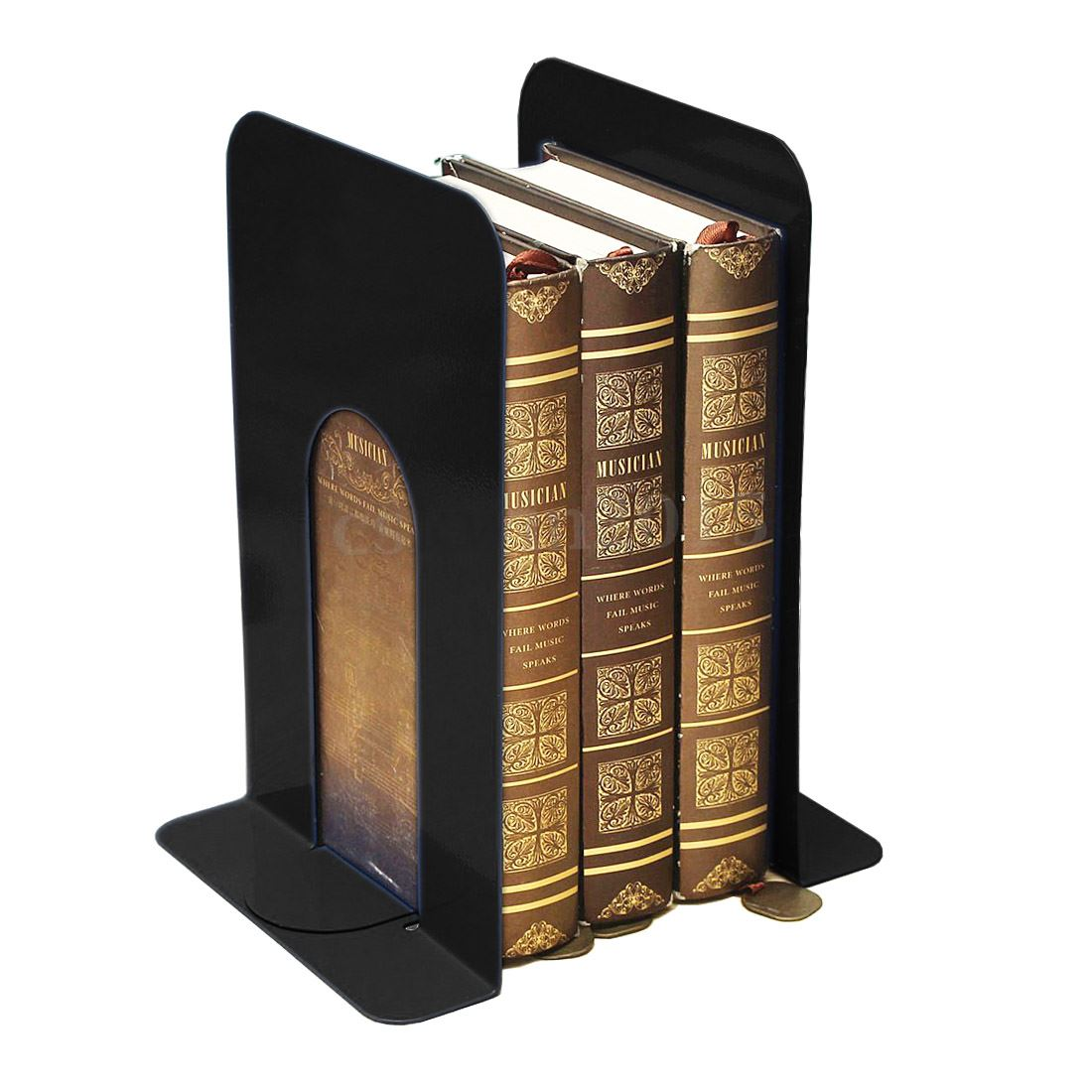 1pcs Heavy Metal Bookends Books Ends Homes Offices