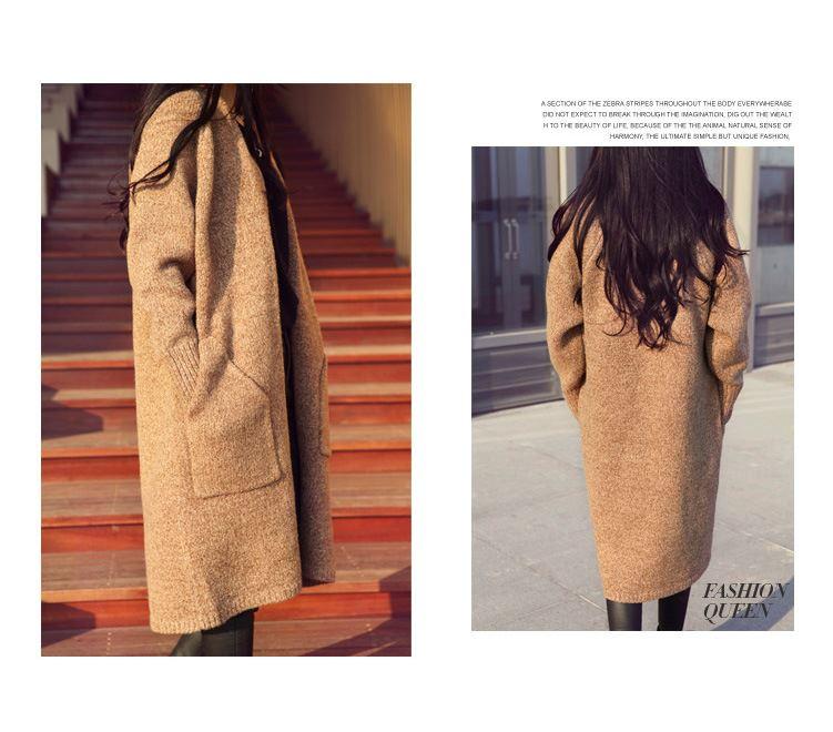 NEW-Women-Knitted-Sweater-Winter-Long-Sleeve-Ladies-Loose-Long-Coat
