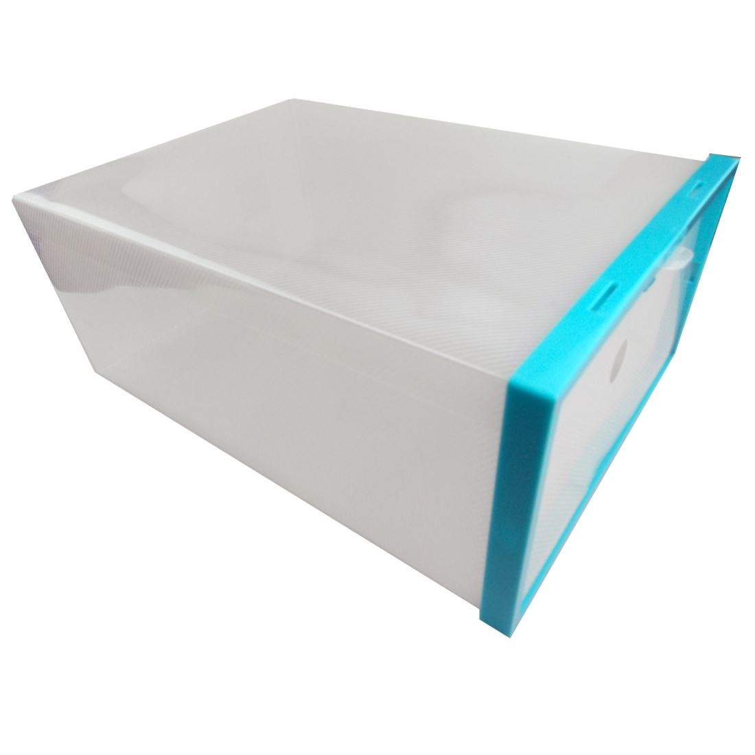 5 Plastic Drawer Shoe Storage Box Clear Stackable