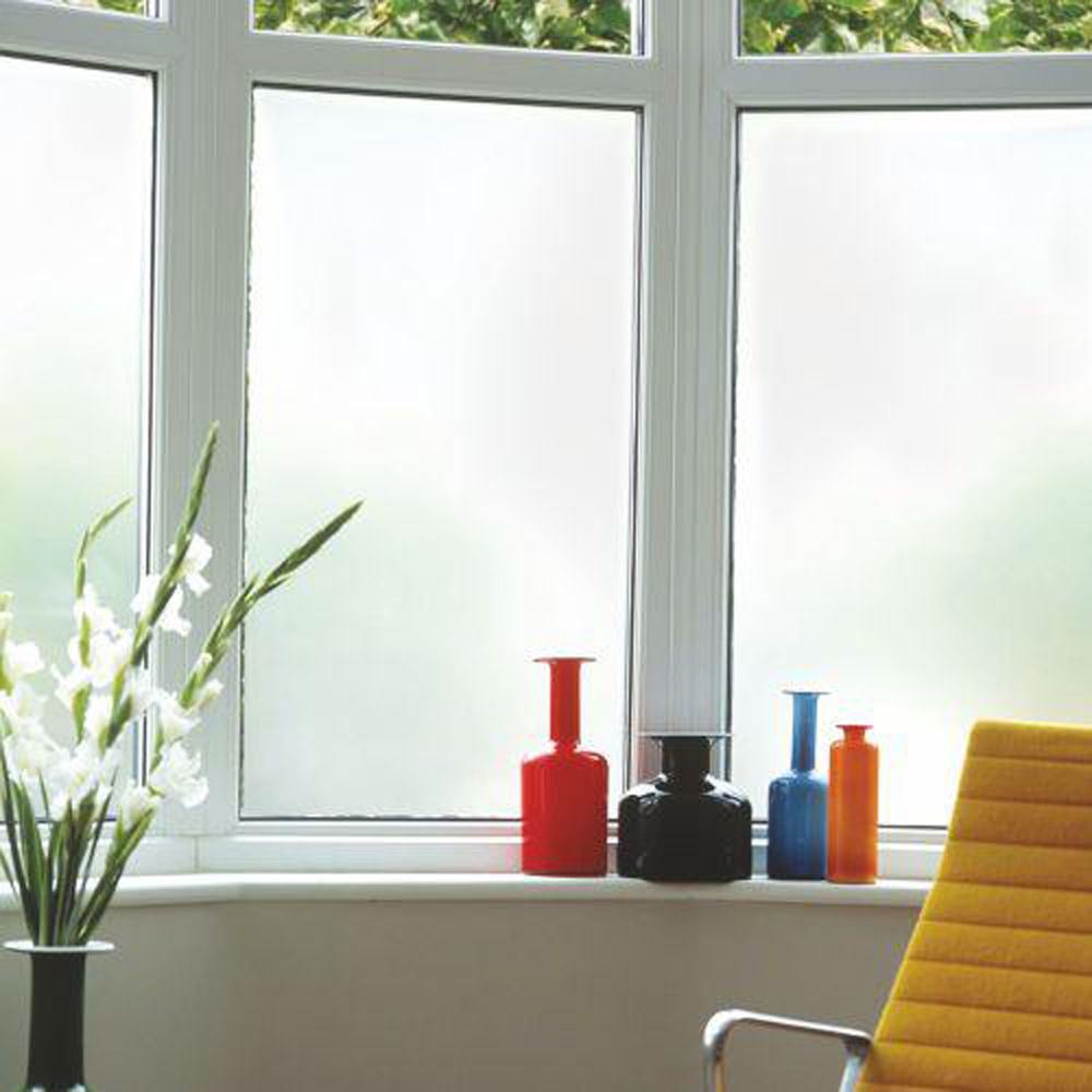 white privacy frosted window film frost glass sticky back plastic vinyl ebay. Black Bedroom Furniture Sets. Home Design Ideas
