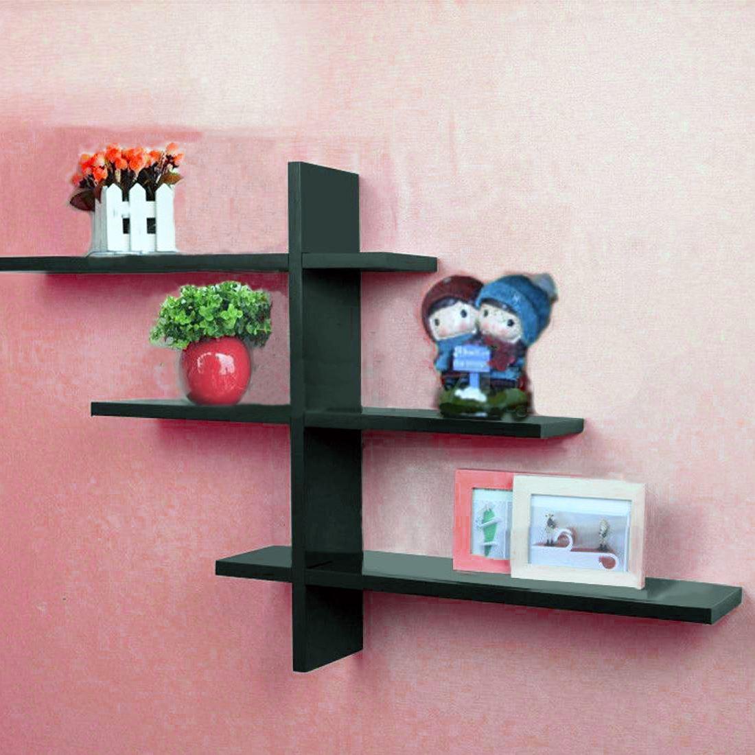 T Shape Floating Shelf Wall Mounted Display Shelves