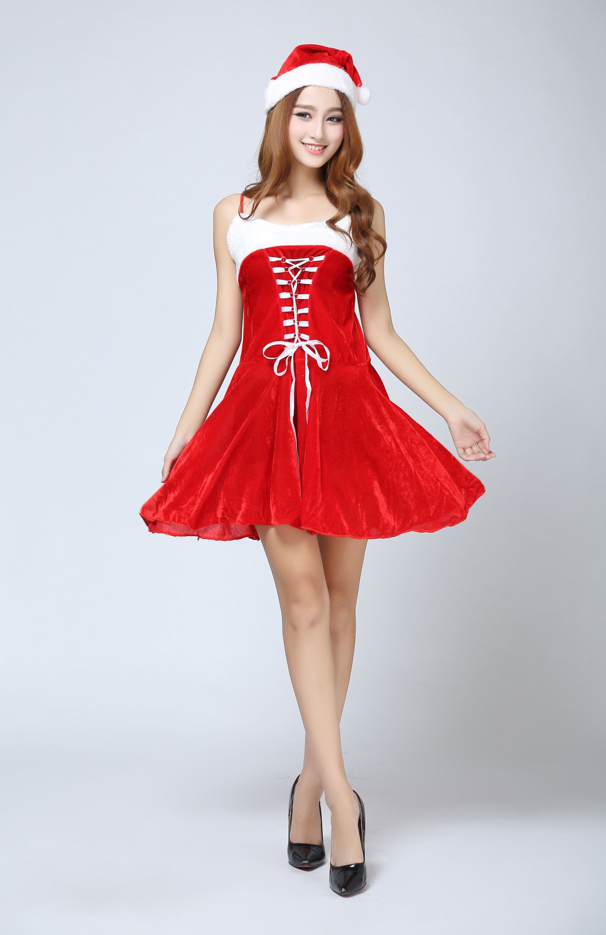 New women s ms santa dress sexy ladies costume christmas red outfit