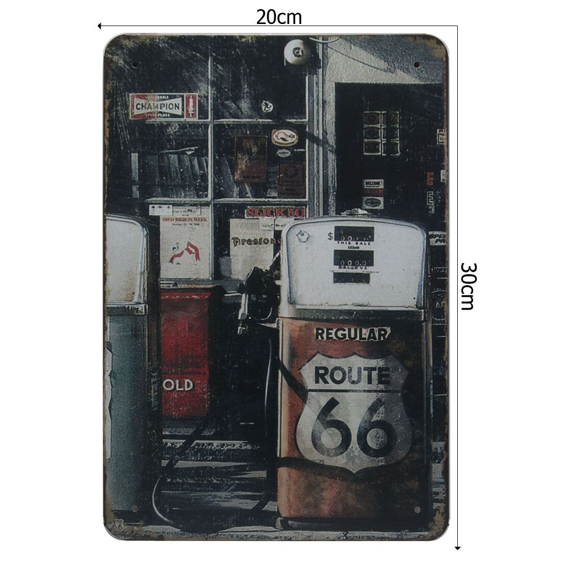 route 66 petro station retro classic metal sign tin plaque. Black Bedroom Furniture Sets. Home Design Ideas