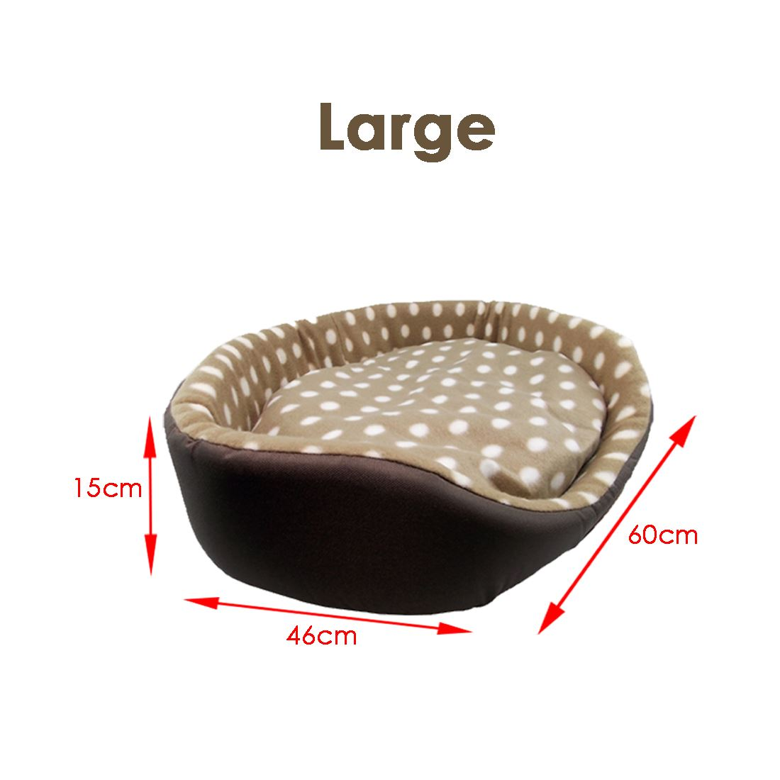 (Large) Soft Luxury Comfy Dog Puppy Cat Pet Bed Cushion Fur Fleece UK