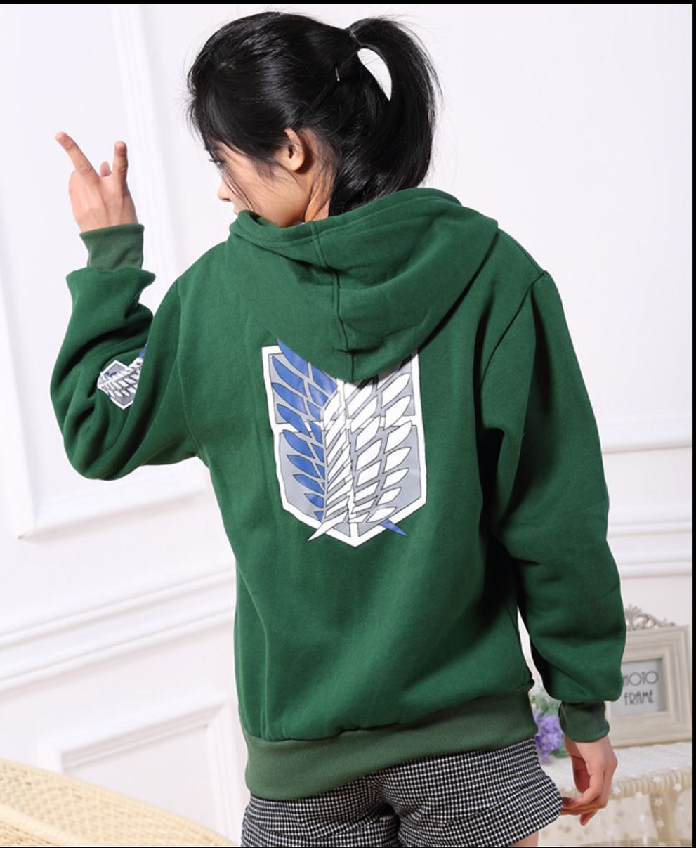 uk stock attack on titan shingeki no kyojin hoodie jumper. Black Bedroom Furniture Sets. Home Design Ideas